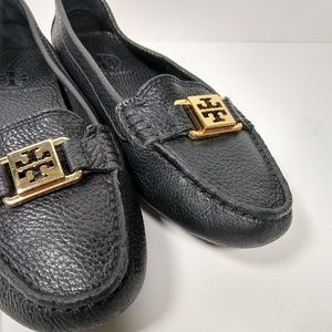 Tory Burch black leather driving loafers 7